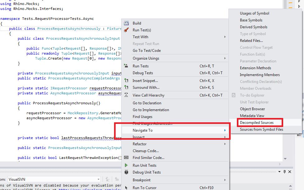 Decompiling external source code–Visual Studio - Anuj Varma